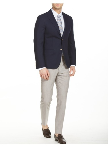 Bisse PCK20Y20120 Mono Yaka Regular Fit Blazer Ceket Lacivert